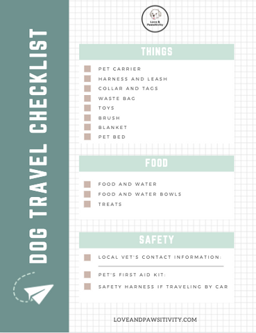 Tips for Taking Your Dog on a Vacation Free Printable Checklist
