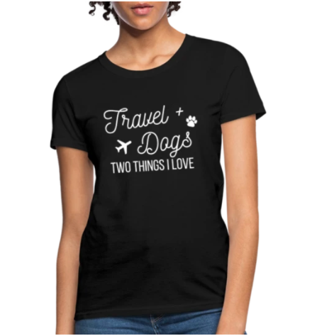 travel and dogs shirt