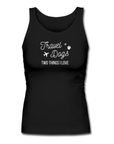 Trave and dogs tank top shirt