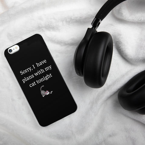Plans With My Cat | iPhone Case