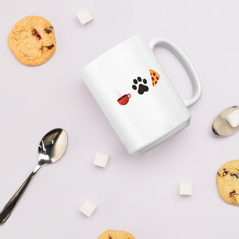 Coffee, Pets, & Pizza | Mug