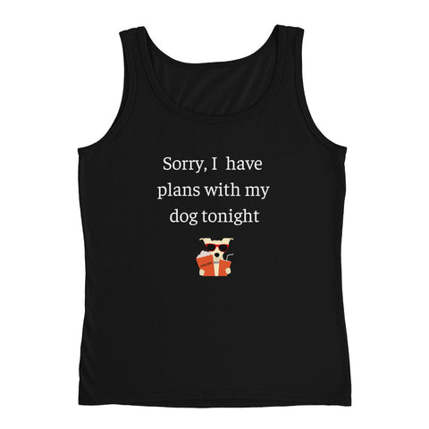 Plans With My Dog | Lightweight Semi-fitted Tank Top | Women
