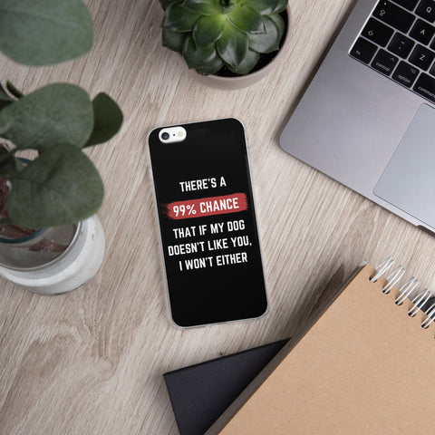 99% Chance - Dog | iPhone Case