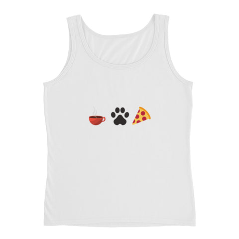 Coffee, Pets, & Pizza | Lightweight Semi-fitted Tank Top | Women
