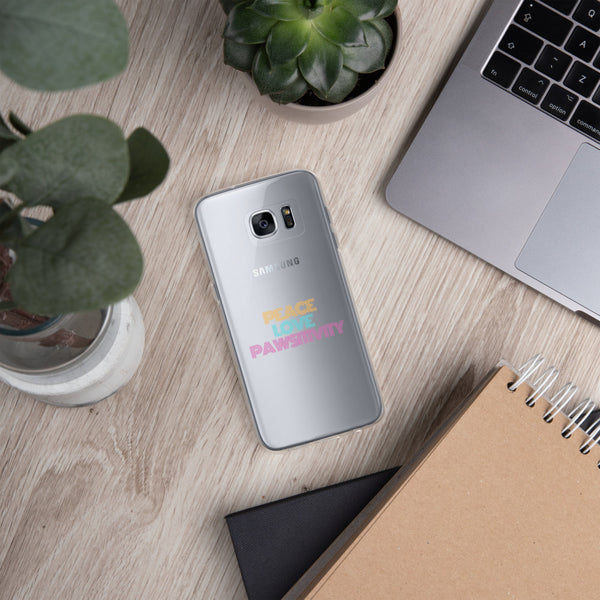 Peace, Love, and Pawsitivity | Samsung Galaxy Phone Case