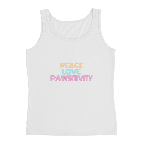 Peace, Love, and Pawsitivity | Lightweight Semi-fitted Tank Top | Women