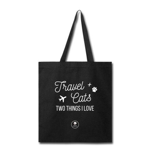 Travel & Cats | Eco-tote - black