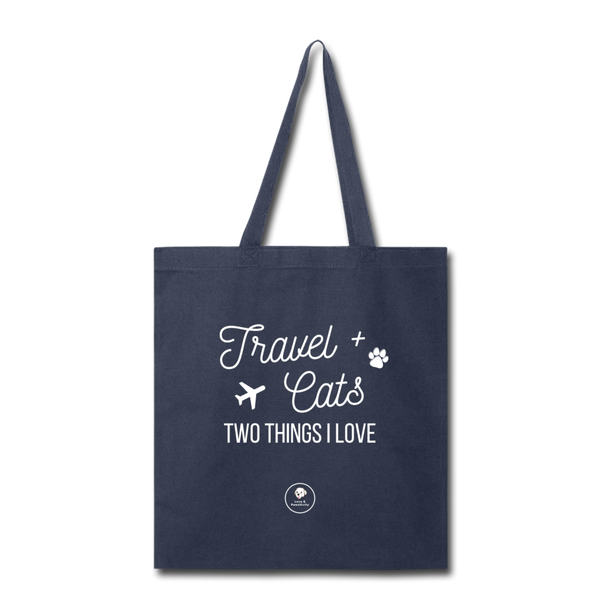 Travel & Cats | Tote Bag - Love & Pawsitivity