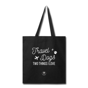 Travel & Dogs | Tote Bag - Love & Pawsitivity