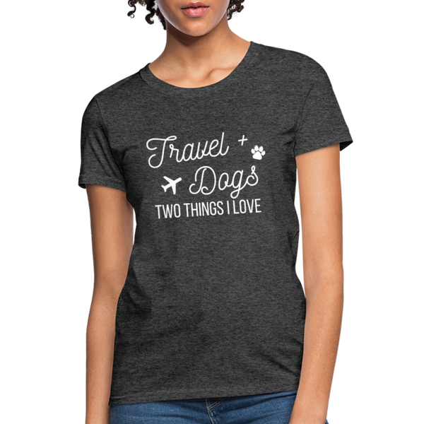 Travel & Dogs | Women's T-Shirt - heather black