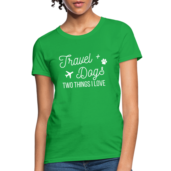 Travel & Dogs | Women's T-Shirt - bright green