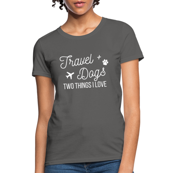 Travel & Dogs | Women's T-Shirt - charcoal