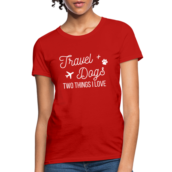 Travel & Dogs | Women's T-Shirt - red