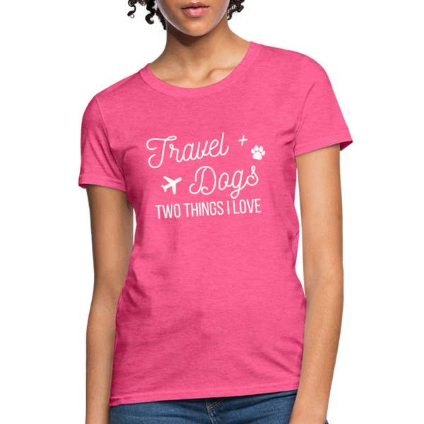 Travel & Dogs | Women's T-Shirt - heather pink
