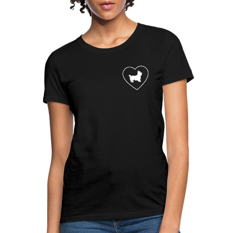 I Heart Yorkies! | Comfort Tee | Women - Love & Pawsitivity