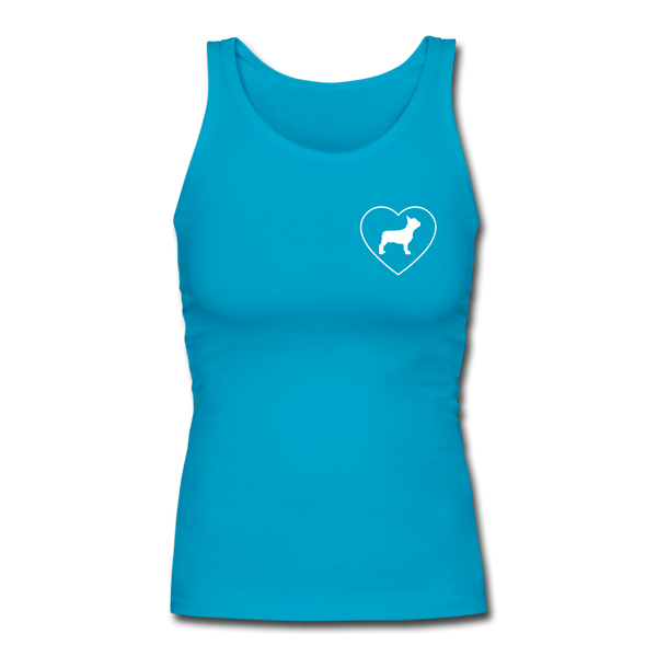 I Heart French Bulldogs! | Comfort Tank Top | Women - Love & Pawsitivity