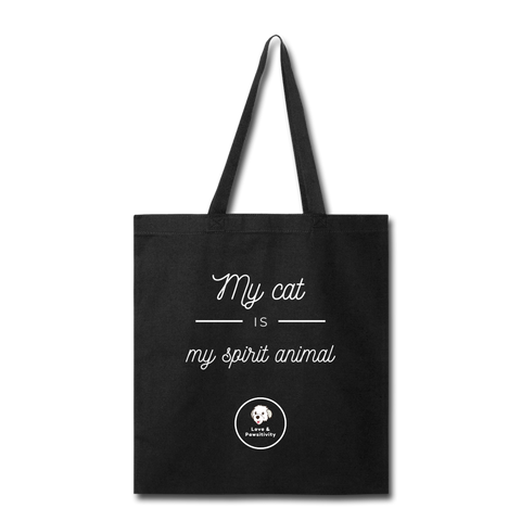 My Cat is My Spirit Animal | Tote Bag - Love & Pawsitivity