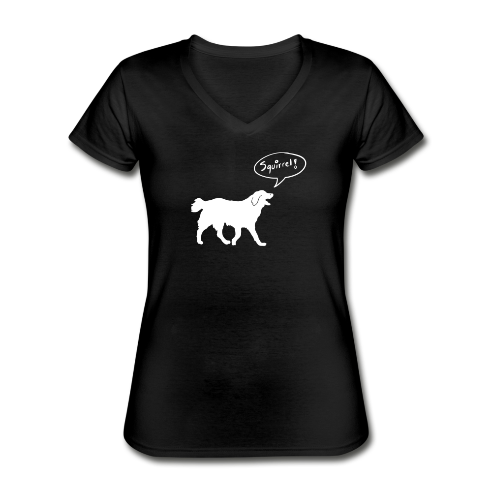 Squirrel! - Labrador | V-Neck Tee | Women - Love & Pawsitivity