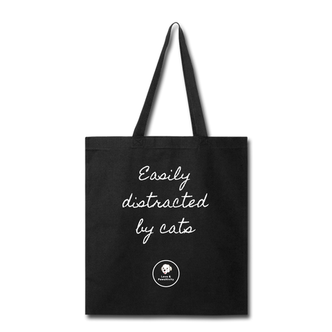 Easily Distracted by Cats | Tote Bag - Love & Pawsitivity