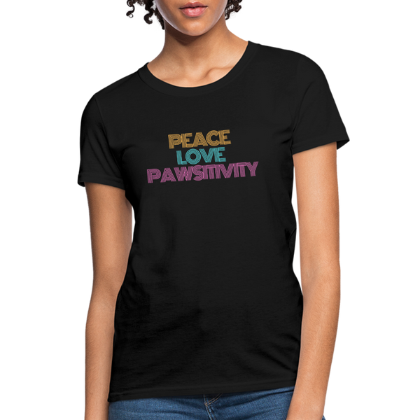 Peace, Love, and Pawsitivity | Comfort Tee | Women - Love & Pawsitivity