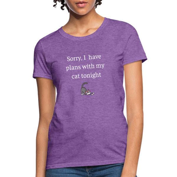 Plans With My Cat | Comfort Tee | Women - Love & Pawsitivity