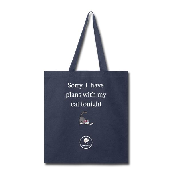 Plans With My Cat | Tote Bag - Love & Pawsitivity