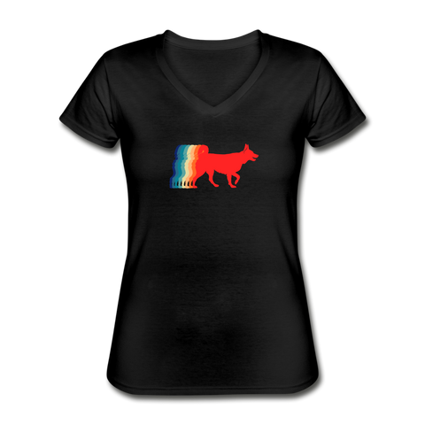 That 70's Dog | V-Neck Tee | Women - Love & Pawsitivity