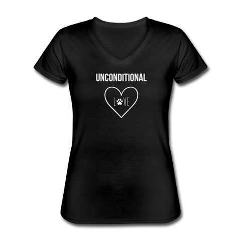 Unconditional Love | V-Neck Tee | Women - Love & Pawsitivity