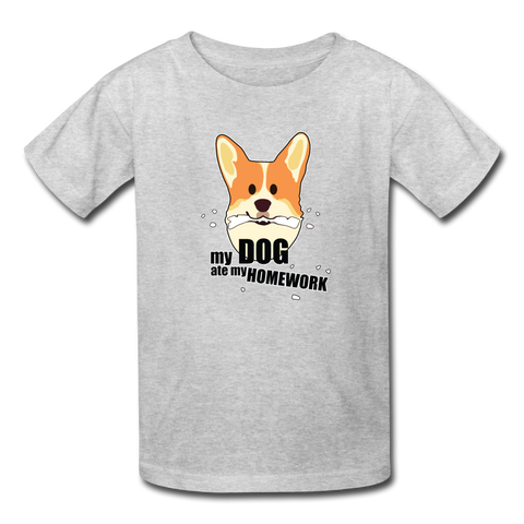 My Dog Ate My Homework | Kids Lightweight Tee | Boys & Girls - Love & Pawsitivity