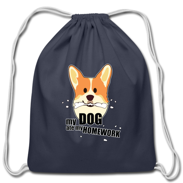 My Dog Ate My Homework | Drawstring Backpack - Love & Pawsitivity
