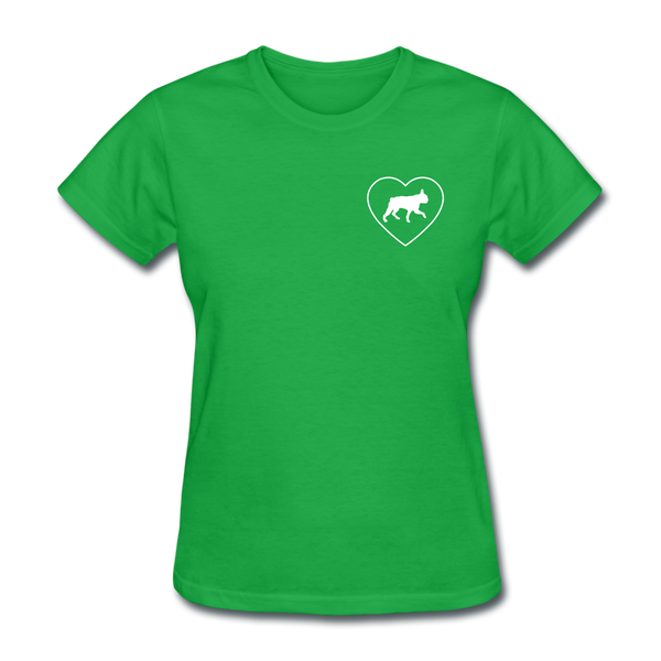 I Heart Boston Terriers! | Comfort Tee | Women - bright green