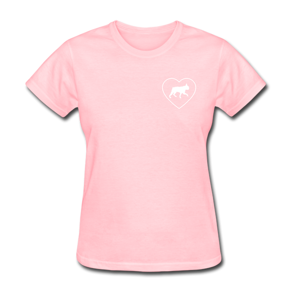 I Heart Boston Terriers! | Comfort Tee | Women - pink