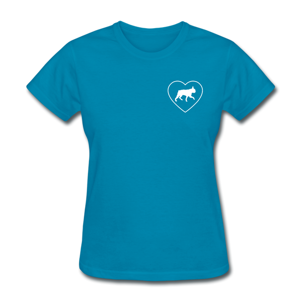 I Heart Boston Terriers! | Comfort Tee | Women - turquoise