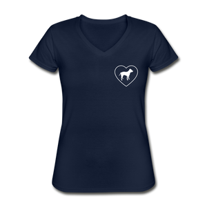 I Heart Pitbulls! | V-Neck Tee | Women - navy