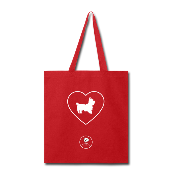 I Heart Yorkies! | Tote Bag - red