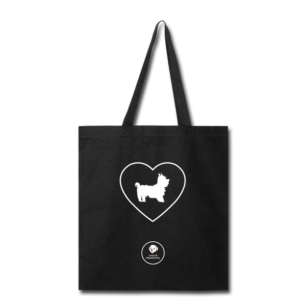 I Heart Yorkies! | Tote Bag - black