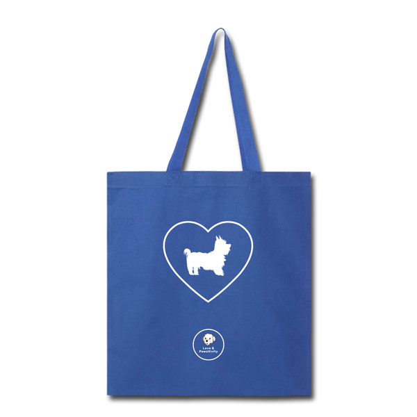 I Heart Yorkies! | Tote Bag - royal blue