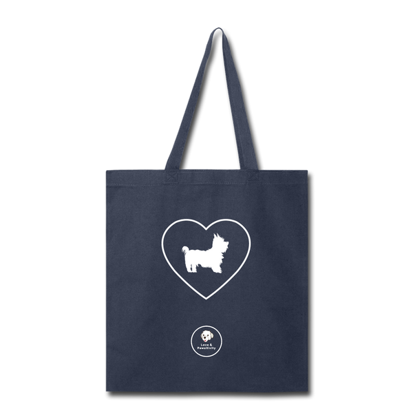 I Heart Yorkies! | Tote Bag - navy