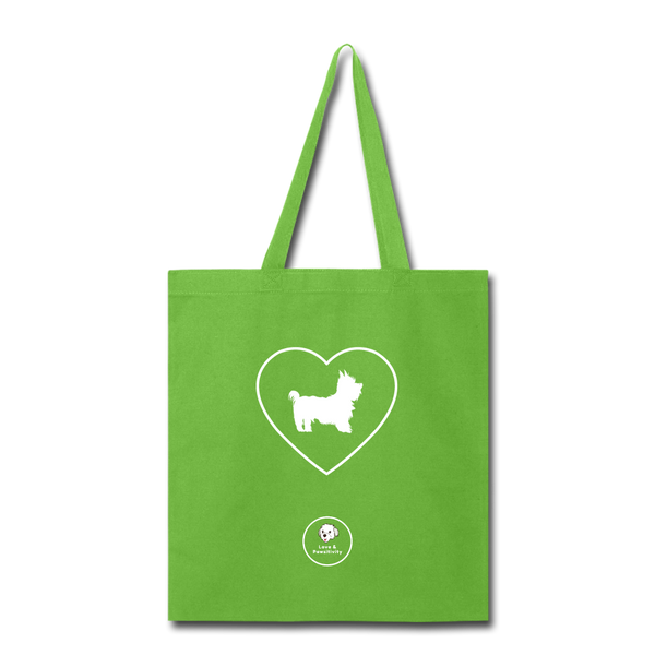 I Heart Yorkies! | Tote Bag - lime green