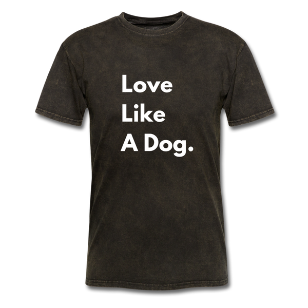Love Like a Dog | Comfort Tee | Men - mineral black