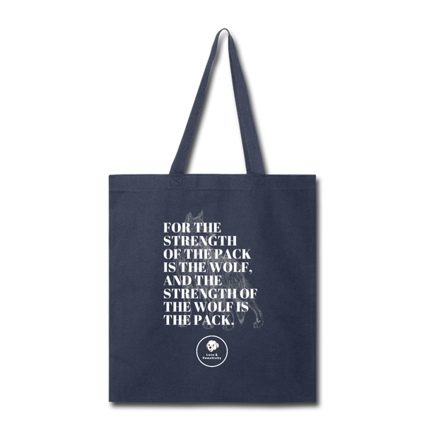 Strength of the Pack | Tote Bag - navy