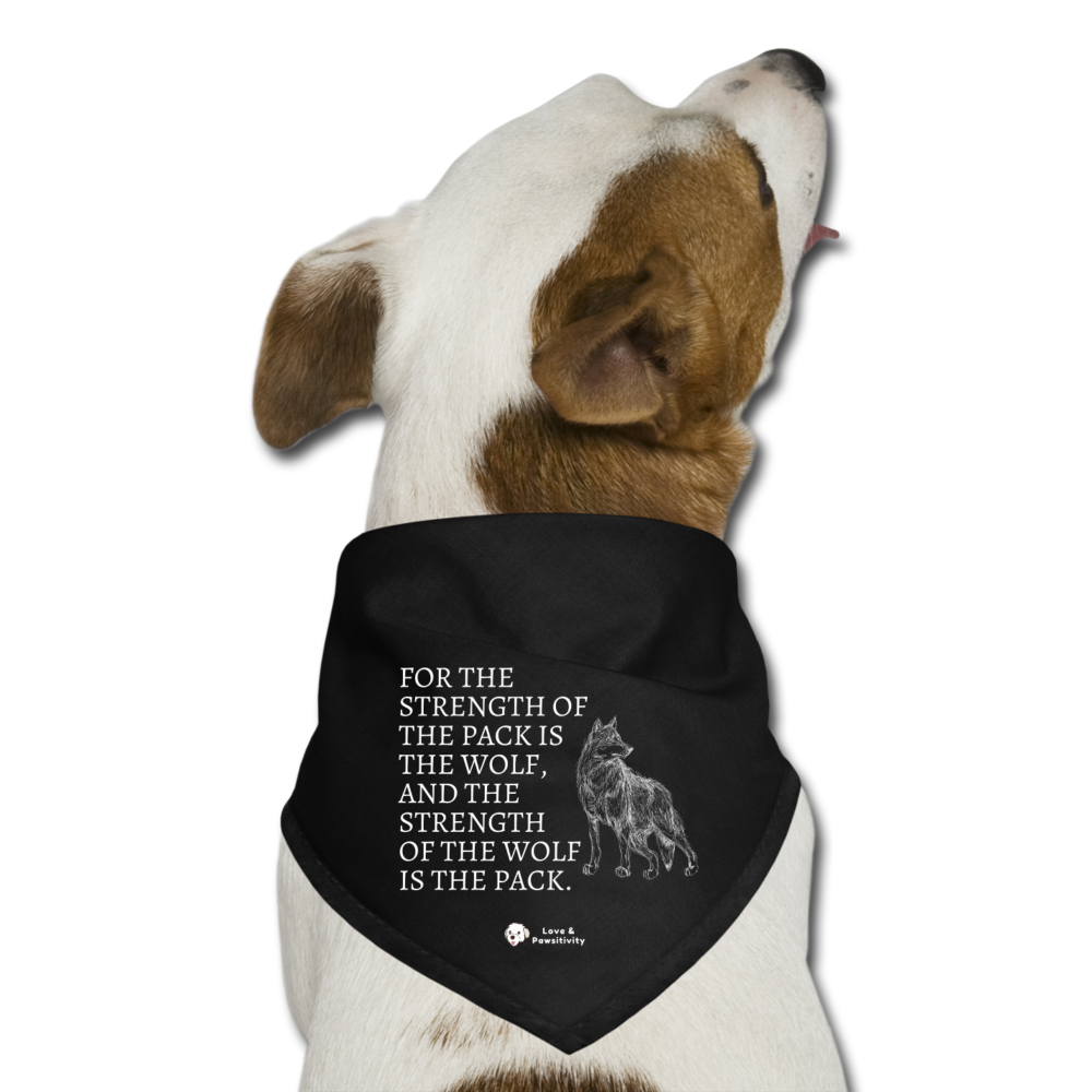 Strength of the Pack | Dog Bandana - black