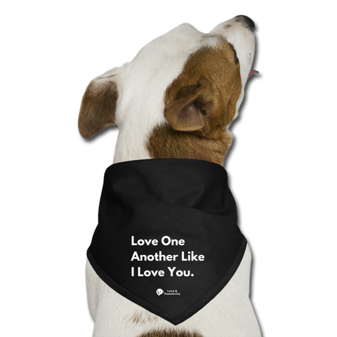Love Like A Dog | Dog Bandana - black