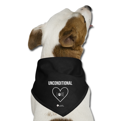 Unconditional Love | Dog Bandana - black