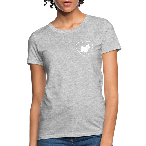 I Heart Yorkies! | Comfort Tee | Women - heather gray