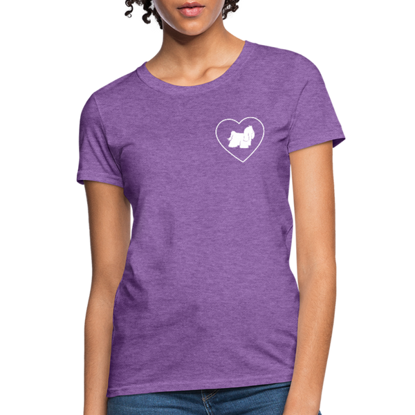 I Heart Yorkies! | Comfort Tee | Women - purple heather