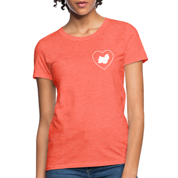 I Heart Yorkies! | Comfort Tee | Women - heather coral