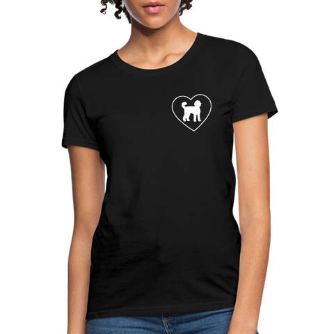I Heart Yorkies! | Comfort Tee | Women - black