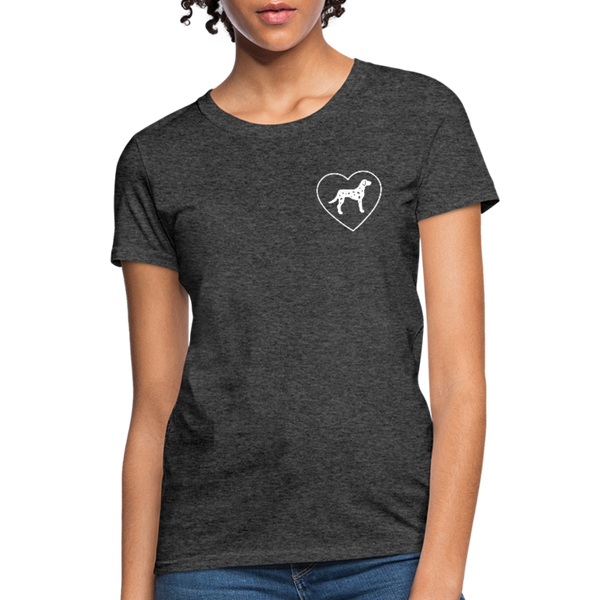 I Heart Dalmatians! | Comfort Tee | Women - heather black