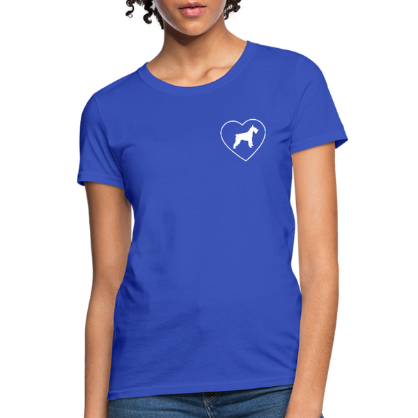 I Heart Schnauzer! | Comfort Tee | Women - royal blue